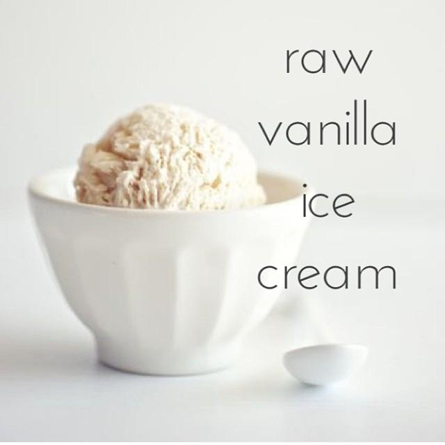 Raw Vanilla Ice Cream
