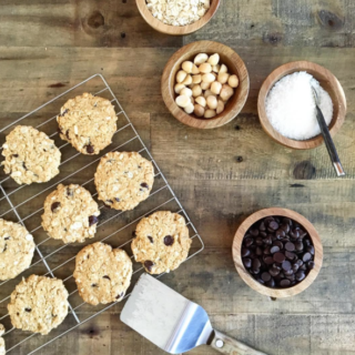 Vegan Coconut Macadamia Chocolate Chip Cookies